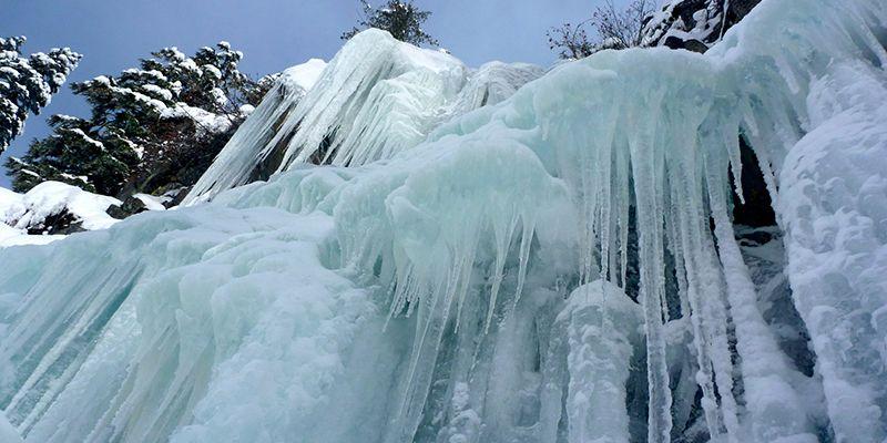 une cascade de glace proche de Toulouse
