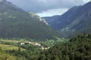 Montagne paysage du canyoning en eau chaude