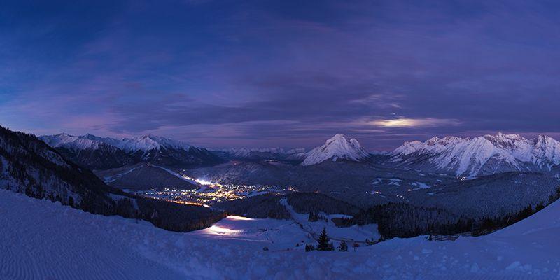 un paysage de la randonnée en ski nocturne à Toulouse