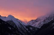 paysage lors de la randonnée en ski nocturne à Toulouse