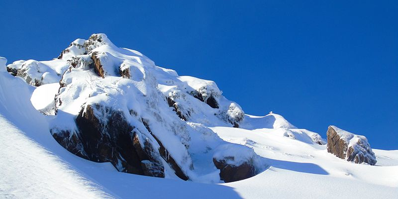 un paysage vu lors de la randonnée en raquettes à neige