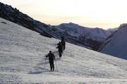 des skieurs lors de la randonnée ski à toulouse